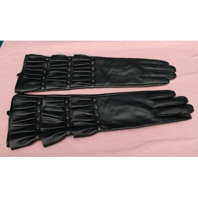 long froufrou glove imitation leather year 80